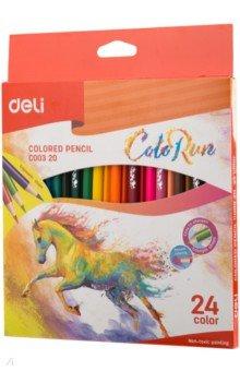 Карандаши 24 цвета ColoRun тополь (EC00320), ISBN 6935205308931, DELI , 693-5-2053-0893-1, 693-5-205-30893-1, 693-5-20-530893-1 - купить со скидкой