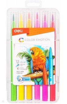 Фломастеры 12 цветов Color Emotion (EC10304)