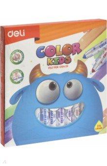 """Фломастеры 24 цвета """"Color Kids"""" смываемые (EC10420)"""