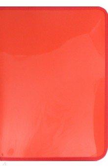 Папка офисная на молнии, красная, А4 (ПО-2754)