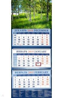 Zakazat.ru: Календарь 2019 Березовая роща (14941).