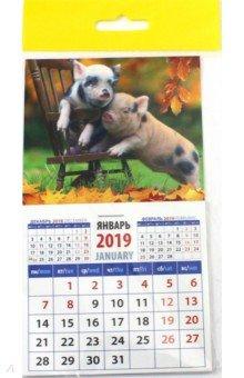 """Календарь 2019 """"Год поросенка. Два проказника"""" (20938)"""