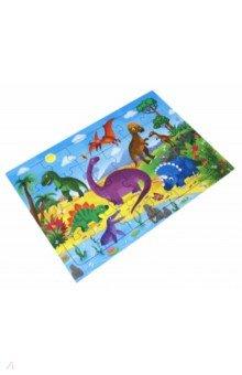 Купить Пазл-24 листовой Динозавры , 24 детали, Геодом, Пазлы (15-50 элементов)