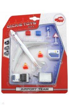 Набор Аэропорт (самолет, машина, знаки, чемоданы) dickie toys игровой набор аэропорт
