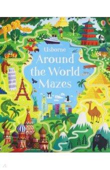 Купить Around the World Mazes, Usborne, Первые книги малыша на английском языке