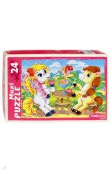 Купить Maxi puzzle-24 Пони на празднике (ПМ-6361), Рыжий Кот, Пазлы (12-50 элементов)