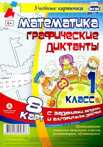 Математика. 1 класс. Графические диктанты. Комплект карт