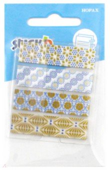 Закладки самоклеящиеся пластиковые 20 листов, 4 цветов (26082)