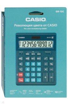 Калькулятор настольный электронный 12-разрядный, темно-зеленый (GR-12C-DG)