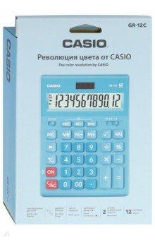 Калькулятор настольный электронный 12-разрядный, голубой (GR-12C-LB)