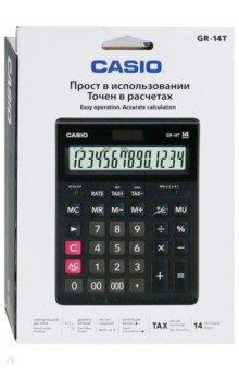 Калькулятор настольный электронный 14-разрядный, черный (GR-14T)