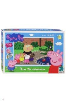 Купить Пазл-24 Peppa Pig. День в зоопарке (04285), Оригами, Пазлы (15-50 элементов)