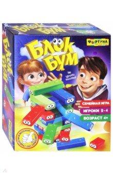 Купить Игра настольная семейная БЛОК БУМ (Ф79326), Фортуна, Строим башню