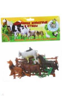 Купить Набор животных Домашние животные и птицы 15 штук (ВВ1630), BONDIBON, Животный мир