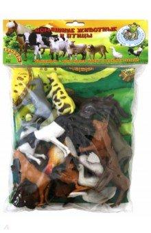 Купить Набор животных Домашние животные и птицы , 20 шт. (ВВ1636), BONDIBON, Животный мир