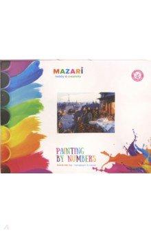 Купить Картина для раскрашивания по номерам На крыше (40х50 см) (M-10091), MAZARI, Создаем и раскрашиваем картину