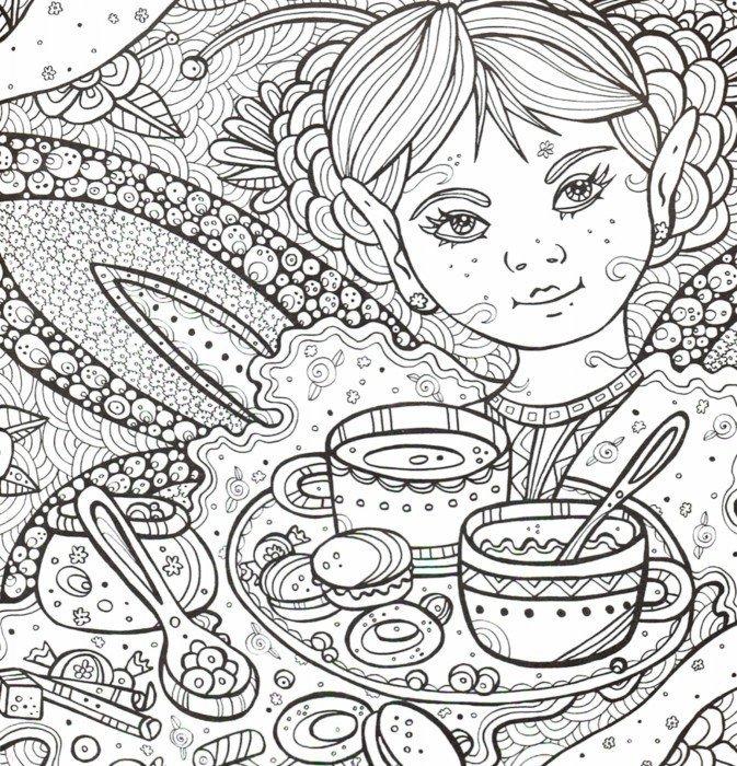 """Иллюстрация 1 из 16 для Раскраска-антистресс """"Сад Эльфов ..."""