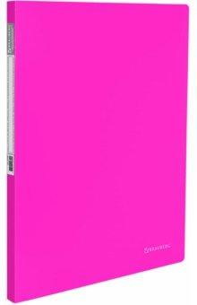 Папка с металлическим скоросшивателем+карман Neon, розовая (227466)