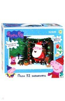 Купить Peppa Pig. Пазл напольный Встреча с Дедом Морозом (04317), Оригами, Пазлы (12-50 элементов)