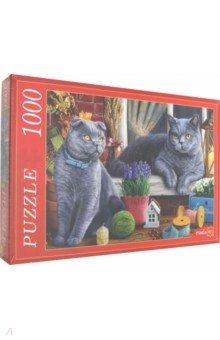 Купить Puzzle-1000 БРИТАНСКИЕ КОТЫ (Ф1000-5149), Рыжий Кот, Пазлы (1000 элементов)