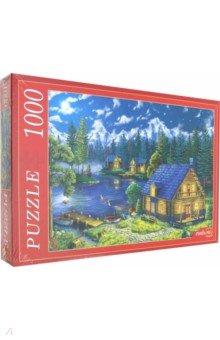 Купить Puzzle-1000 ДОМИК У НОЧНОГО ОЗЕРА (Ф1000-6790), Рыжий Кот, Пазлы (1000 элементов)