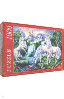 Купить Puzzle-1000 ЕДИНОРОГИ И ЗАМОК (Ф1000-7651), Рыжий Кот, Пазлы (1000 элементов)