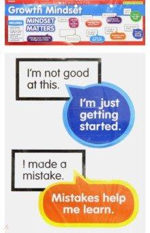 Growth Mindset. Bulletin Board Set (10 pieces), Scholastic Inc., Изучение иностранного языка  - купить со скидкой