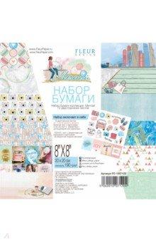 Купить Набор бумаги Мечтай 20х20 см, 12 листов (FD1007120), Fleur Design, Скрапбук