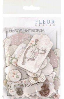Купить Набор чипборда Наш малыш Девочка , 26 штук (FD2074002), Fleur Design, Скрапбук