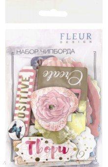 Купить Набор чипборда Твори , 26 штук (FD2076602), Fleur Design, Скрапбук