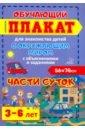Обложка Части суток. 3-6 лет. Обучающий плакат-раскраска для знакомства детей с окружающим миром