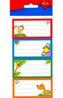 Наклейки школьные с рисунком (12 штук) (С3350)