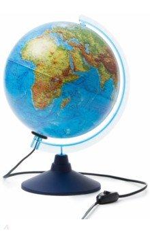 Интерактивный глобус Земли физико-политический d=250, с подсветкой (INT12500284).