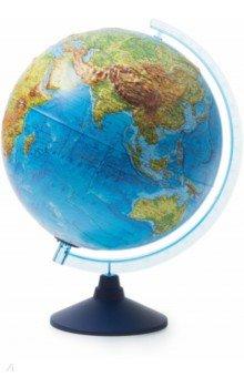 Интерактивный глобус Земли физико-политический (d=320 мм, рельефный, с подсветкой) (INT13200291).
