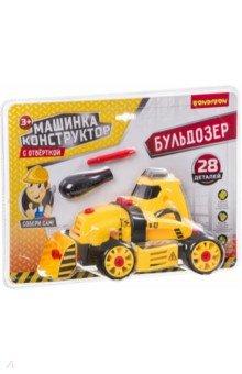 Купить Машинка-конструктор с отверткой Бульдозер (28 деталей) (ВВ3381), BONDIBON, Другой транспорт