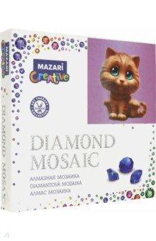 Купить Алмазная мозаика Рыжий котенок (20х20 см) (M-10330), MAZARI, Аппликации