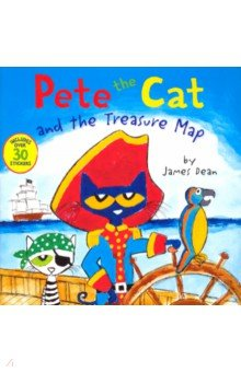 Pete the Cat and the Treasure Map, Harper Collins USA, Художественная литература для детей на англ.яз.  - купить со скидкой