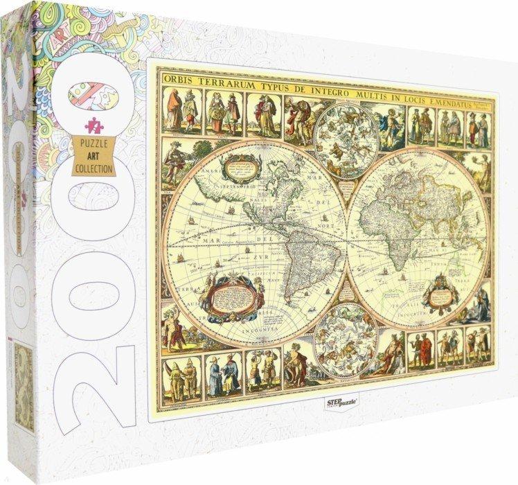 Иллюстрация 1 из 25 для Step Puzzle-2000 84003 Историческая карта мира   Лабиринт - игрушки. Источник: Лабиринт