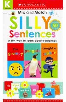 Купить Kindergarten Mix &Match Silly Sentences board book, Scholastic Inc., Первые книги малыша на английском языке