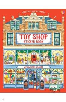 Купить Doll's House Sticker Book. Toy Shop Sticker Book, Usborne, Книги для детского досуга на английском языке