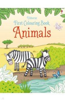 Купить First Colouring Book: Animals, Usborne, Книги для детского досуга на английском языке