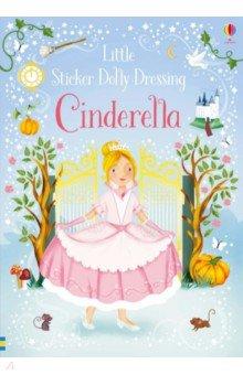 Купить Little Sticker Dolly Dressing. Cinderella, Usborne, Книги для детского досуга на английском языке