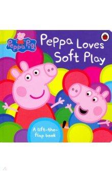 Купить Peppa Loves Soft Play, Ladybird, Первые книги малыша на английском языке