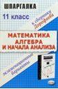 купить Дорофеев Николай Шпаргалка по математике и алгебре и началам анализа. К сборнику заданий Г.В. Дорофеева (11 класс) онлайн