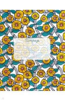 Тетрадь 48 листов, клетка, в обложке, №06 Цветочный сад (00966).