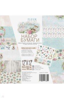 Купить Набор двусторонней бумаги Дыхание весны (30, 5х30, 5 см, 12 листов) (FD1007830), Fleur Design, Скрапбук