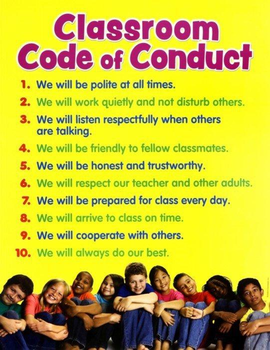Иллюстрация 1 из 2 для Classroom Code of Conduct Chart | Лабиринт - книги. Источник: Лабиринт
