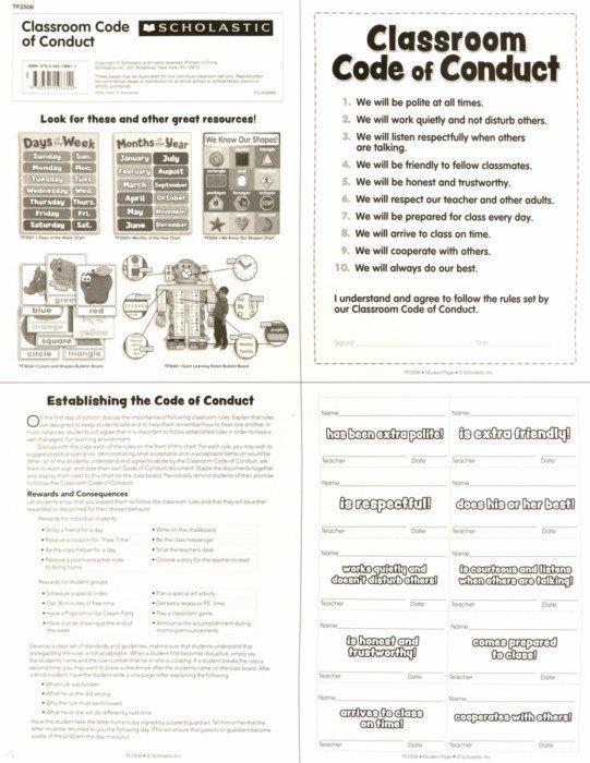 Иллюстрация 2 из 2 для Classroom Code of Conduct Chart | Лабиринт - книги. Источник: Лабиринт