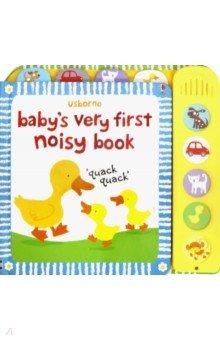 Купить Baby's Very First Noisy Book, Usborne, Первые книги малыша на английском языке