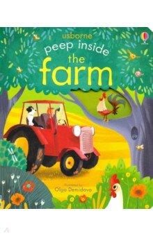 Купить Peep Inside the Farm, Usborne, Художественная литература для детей на англ.яз.